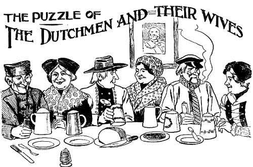 El acertijo de los holandeses y sus mujeres