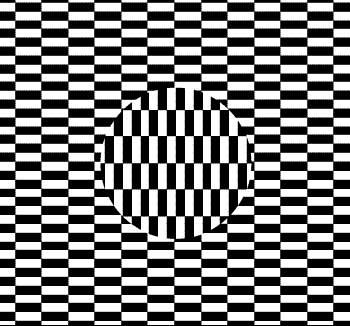 El círculo del centro parece que se mueve