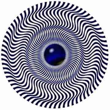 Mirando fijamente al centro se tiene la sensación de movimiento de ondas concéntricas