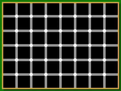 Da la sensación de que los puntos negros van saltando de un lugar a otro caóticamente
